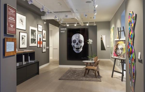 Interior de la galería Lumas Madrid