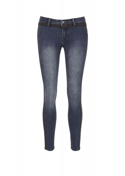 Seamed Denim Pant in Oceanic (Front)