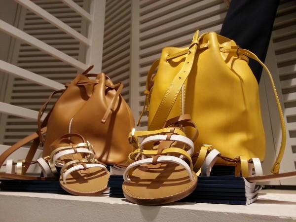 Bolso y sandalias de la colección Harmont & Blaine ss2016