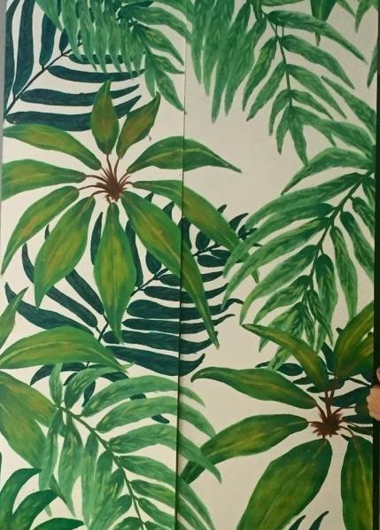 Paneles pintados a mano de AS