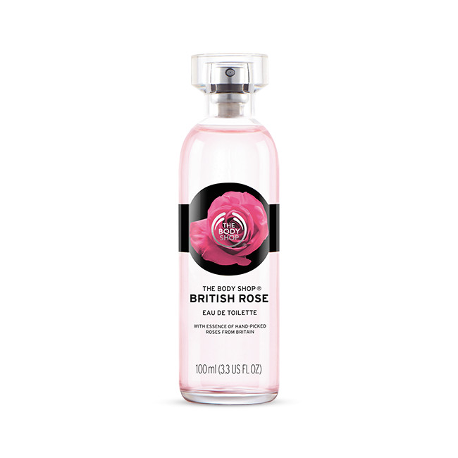 Agua de colonia de la línea de British Rose de The Body Shop