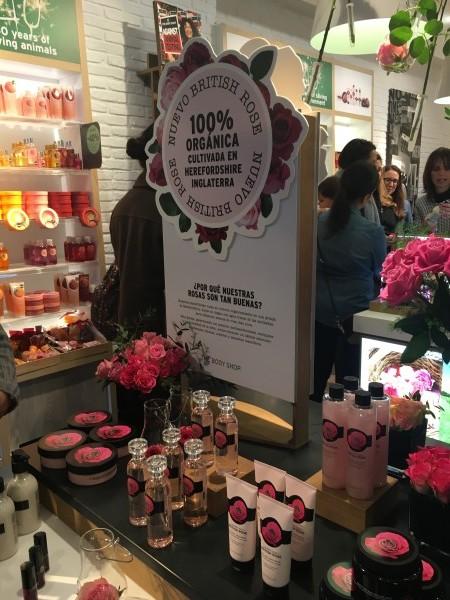 Presentación línea British Rose de The Body Shop