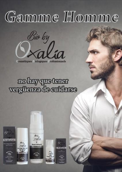 Línea de cuidado masculino de Oxalia.