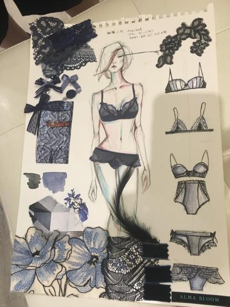 Bocetos de la colección Vanitié de Alma Blooom