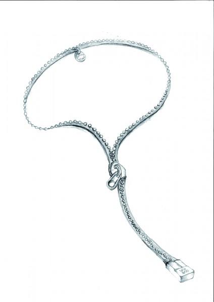 Boceto del collar cremallera de UNOde50