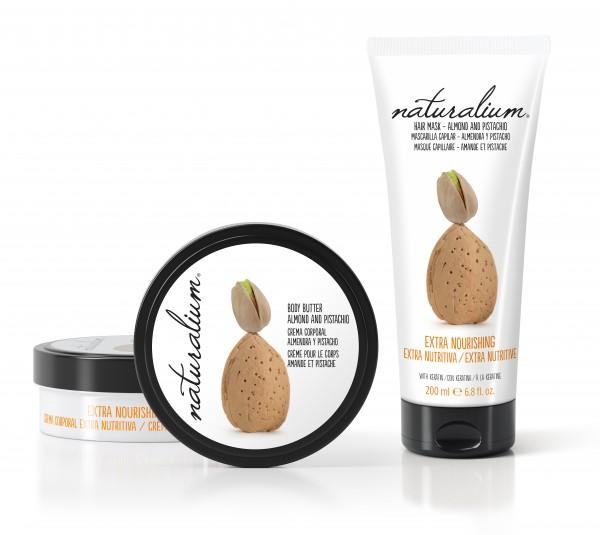 Crema corporal y Mascarilla nutritiva de Almendra y Pistacho de Naturalium