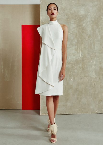 vestido-beige-colección-SS2018-miguel-marinero