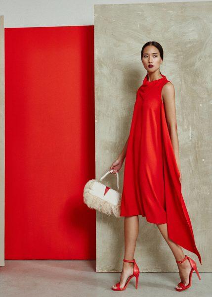 vestido-rojo-de-la-colección-SS2018-miguel-marinero
